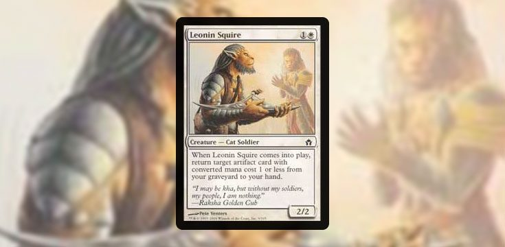 Pauper card tech Leonin Squire