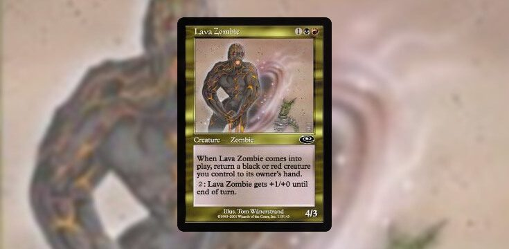 Pauper card tech Lava Zombie
