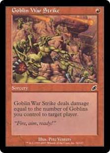 pauper cards goblin war strike
