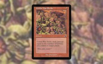 Pauper card tech goblin war strike