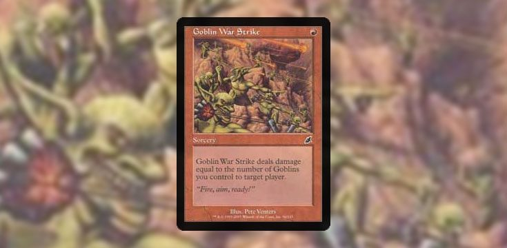 Pauper card tech goblin war strike